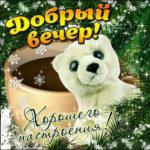 Веселая открытка добрый вечер